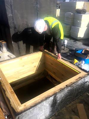 Roof Hatch, fire safety installation